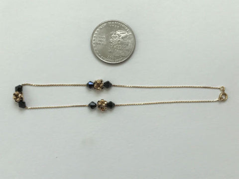 Small 14K gold anklet 9 inches