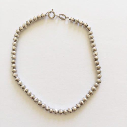 14K White Gold Bracelet - 7 inches - B78