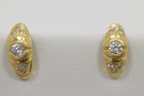 14K Yellow Gold Earrings - E83