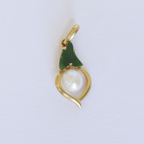 Small 14K Yellow gold Pearl Pendants in many size & many designs- P294-302