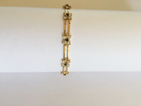 14K Yellow Gold Ladies Sapphire bracelet - 6.5 inches B112
