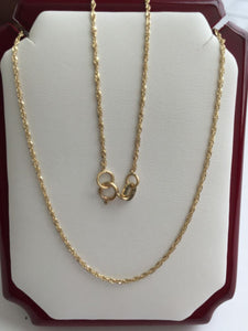 Small 14K Yellow Gold Chain 20 inches - Width 1MM - C16