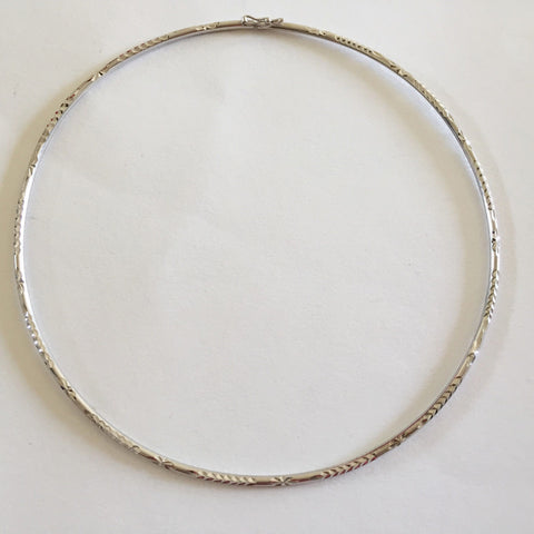10K White Gold Necklace 4.25 inches (diameter) for baby girl - C128