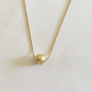 Small 14K Yellow Gold Round Pendant - P322