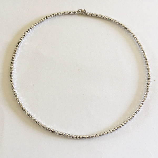 Beautiful 14K White Gold Necklace 5 inches (diameter) - C117