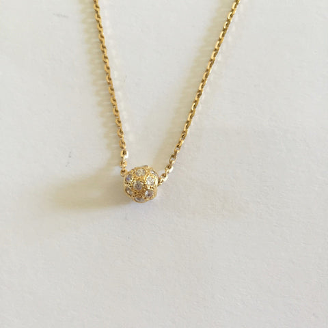 Small 14K Yellow Gold Round Pendant - P323
