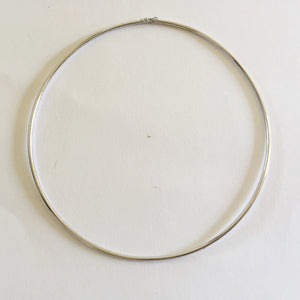 10K White Gold Necklace 4.5 inches (diameter) for baby girl - C116