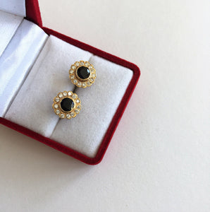 14K Yellow Gold Sapphire Earrings - E127