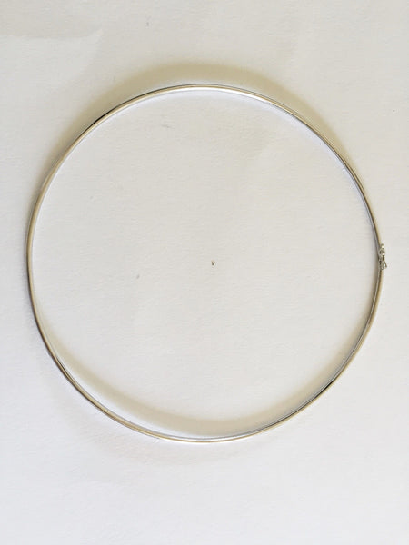 10K White Gold Necklace 4.25 inches (diameter) for baby girl - C125