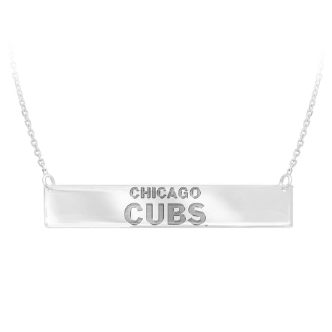 MLB Team Bar Necklace - Chicago Cubs