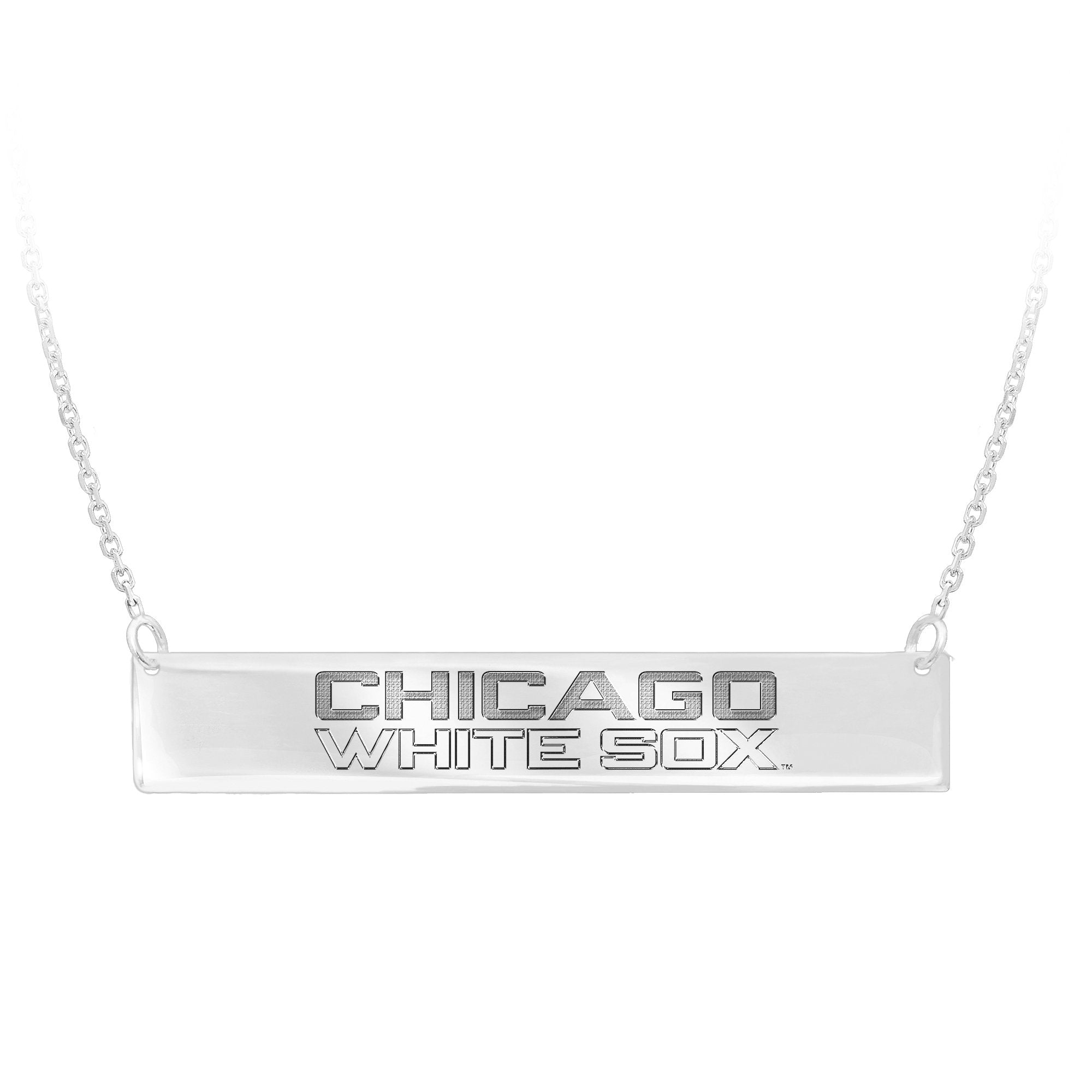 MLB Team Bar Necklace - Chicago White Sox