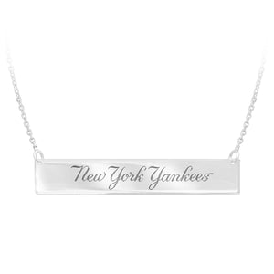 MLB Team Bar Necklace - New York Yankees