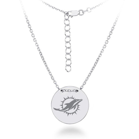 NFL Team Tailored Necklace - Miami Dolphins
