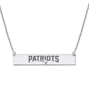 NFL Team Bar Necklace - New England Patriots