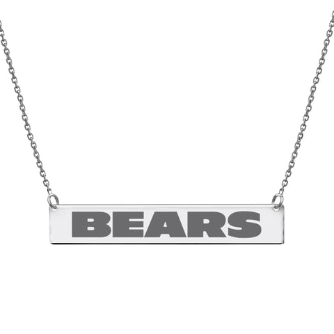 NFL Team Bar Necklace - Chicago Bears