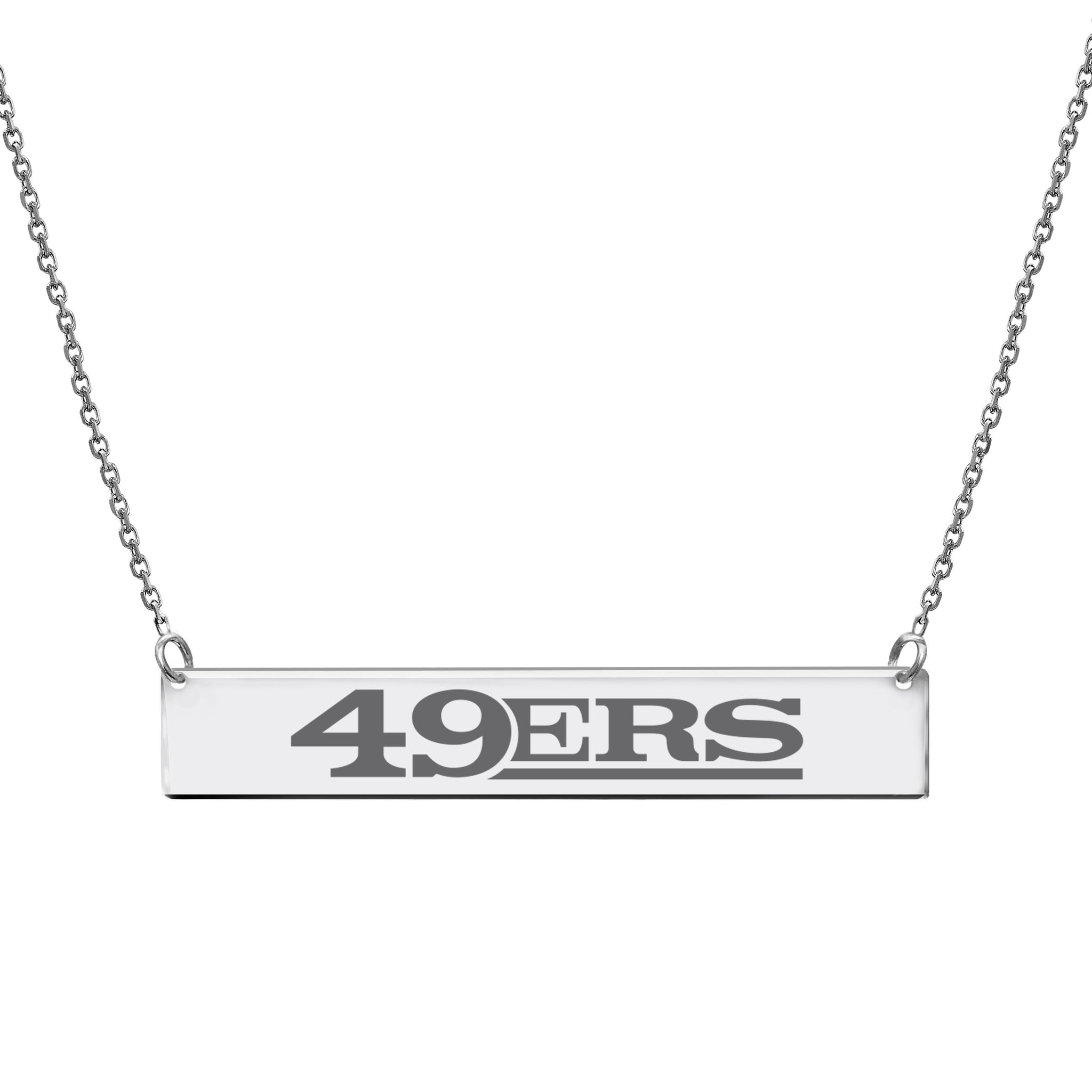 NFL Team Bar Necklace - San Francisco 49ERS