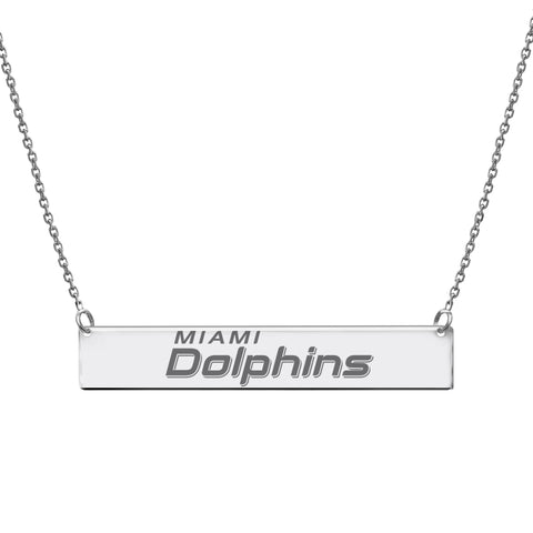 NFL Team Bar Necklace - Miami Dolphins