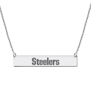 NFL Football Team Bar Necklace - Pittsburgh Steelers