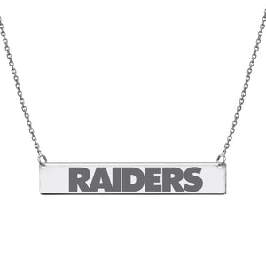 NFL Team Bar Necklace - Oakland Raiders