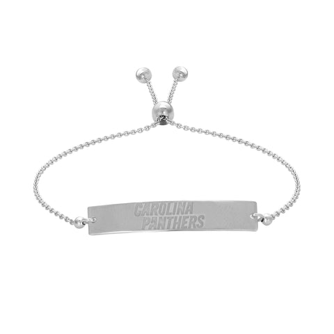NFL Team Bar Adjustable Bracelet - Carolina Panthers
