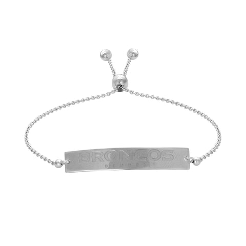 NFL Team Bar Adjustable Bracelet - Denver Broncos