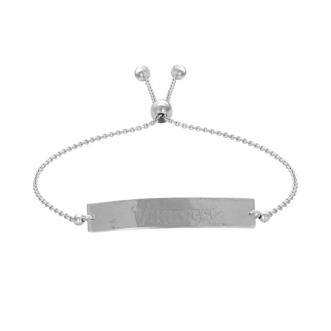 NFL Team Bar Adjustable Bracelet - Minnesota Vikings
