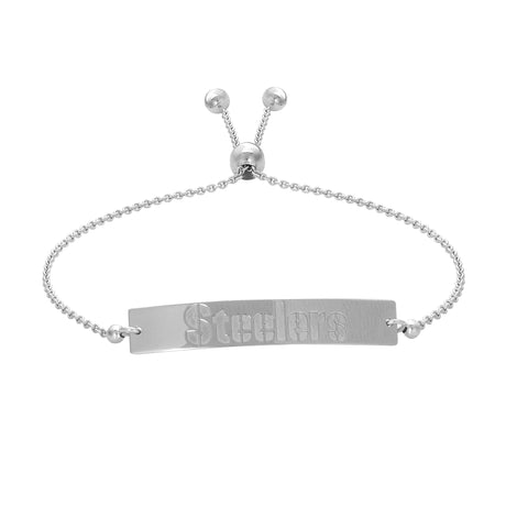 NFL Team Bar Adjustable Bracelet - Pittsburgh Steelers