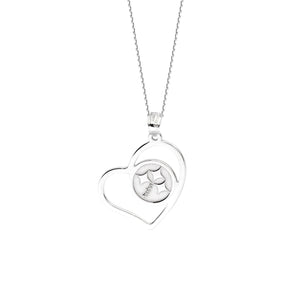 NFL Team Slanted Heart Necklace - Pittsburgh Steelers