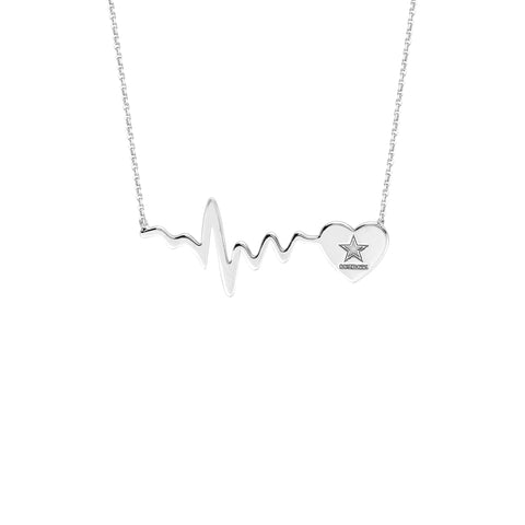 NFL Team HeartBeat  Heart Necklace - Dallas Cowboys