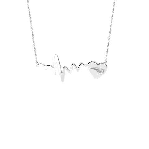 NFL Team HeartBeat  Heart Necklace - New England Patriots