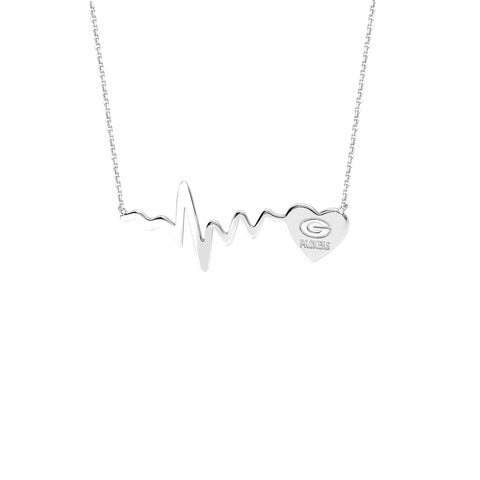 NFL Team HeartBeat  Heart Necklace - Green Bay Packers