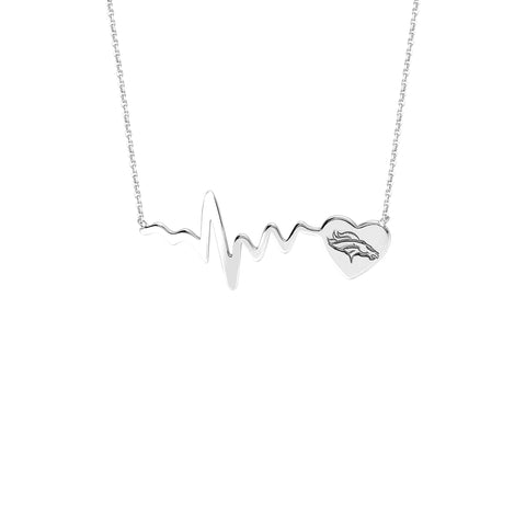 NFL Team HeartBeat  Heart Necklace - Denver Broncos
