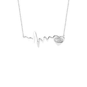 NFL Team HeartBeat Heart Necklace - San Francisco 49ERS