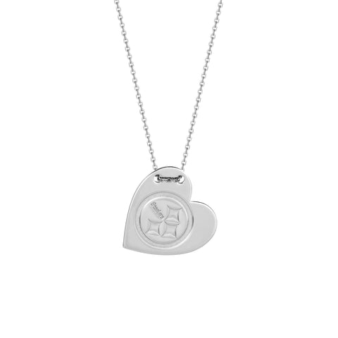 NFL Team Tailored Heart Necklace - Pittsburgh Steelers