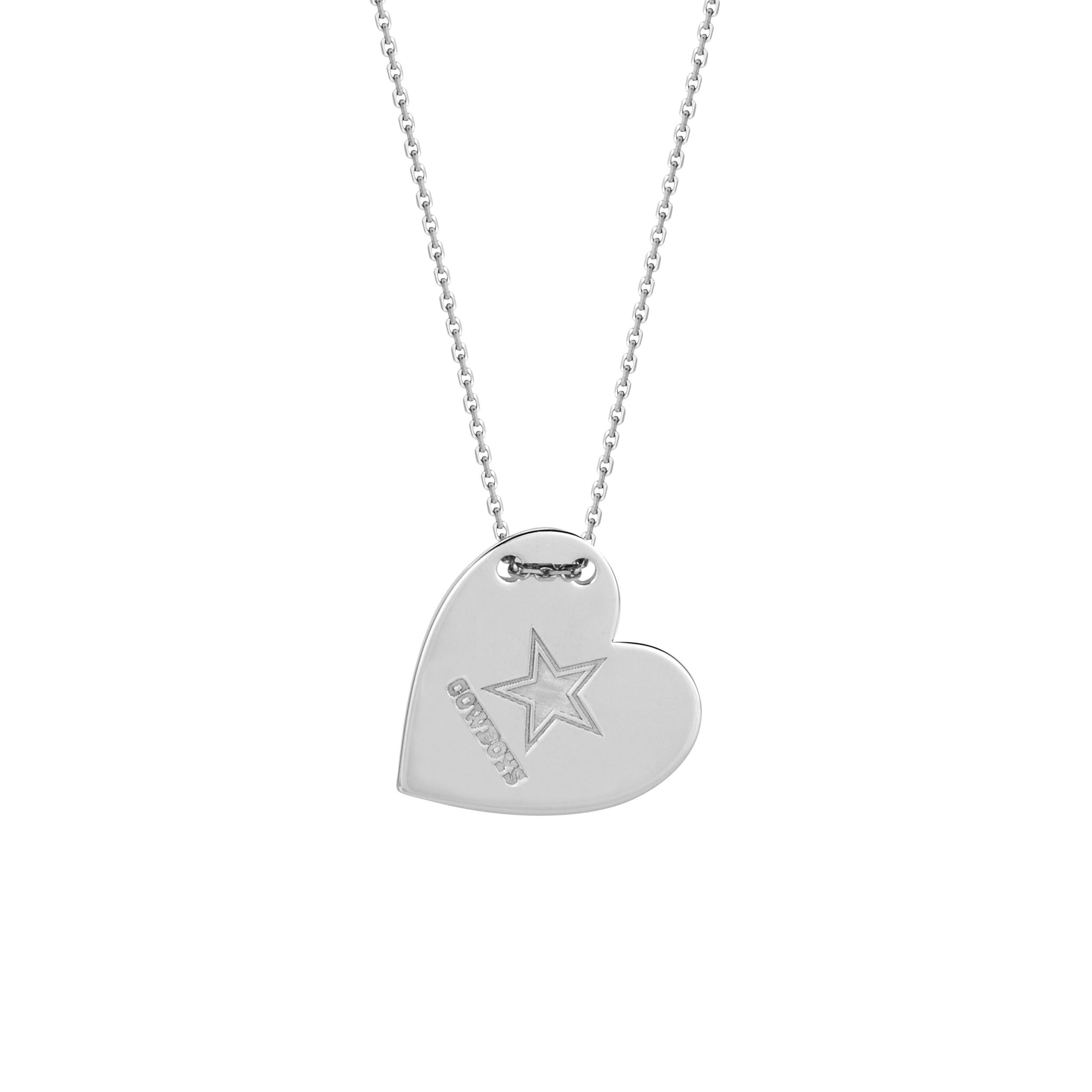 NFL Team Tailored Heart Necklace - Dallas Cowboys