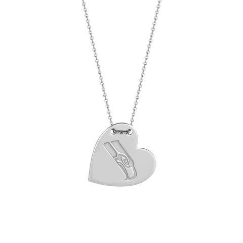NFL Team Tailored Heart Necklace - Seattle Seahawks
