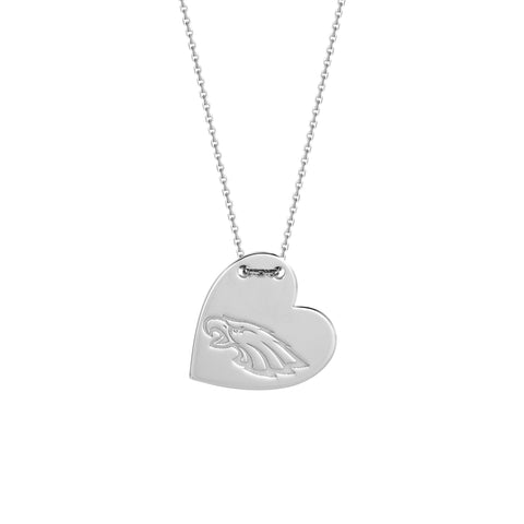 NFL Team Tailored Heart Necklace - Philadelphia Eagles