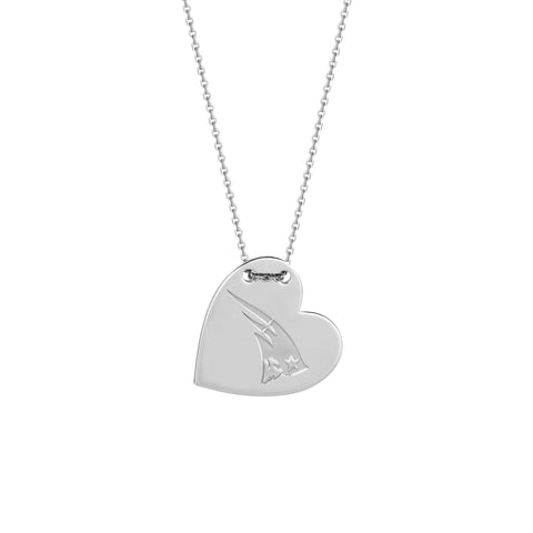 NFL Team Tailored Heart Necklace - New England Patriots