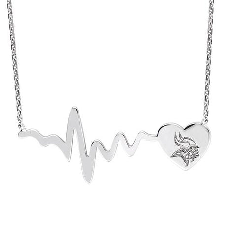 NFL Team HeartBeat  Heart Necklace - Minnesota Vikings