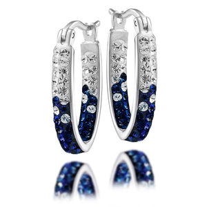 4YR Spirit Hoop Earrings - University of Michigan