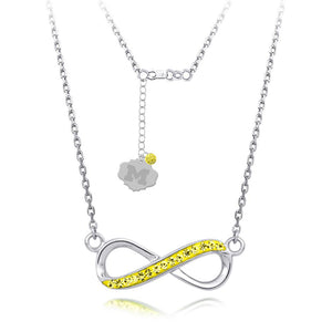 4YR Spirit Infinity Necklace - University of Michigan - Yellow