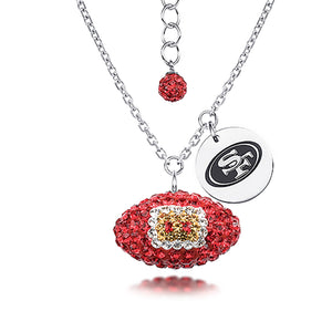 NFL Team Football Necklace - San Francisco 49ERS