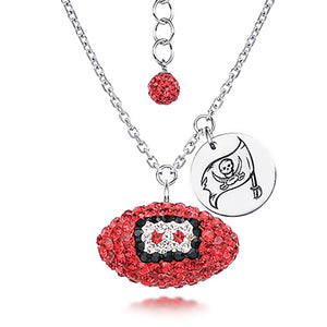 NFL Team Football Necklace - Tampa Bay Buccaneers