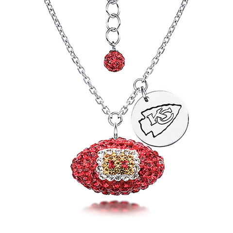 NFL Team Football Necklace - Kansas City Chiefs