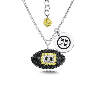 NFL Team Football Necklace - Pittsburgh Steelers