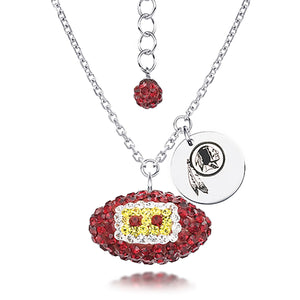 NFL Team Football Necklace - Washington RedSkins
