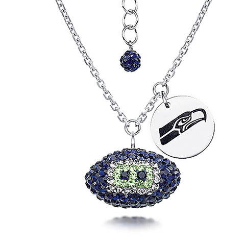 NFL Team Football Necklace - Seattle Seahawks