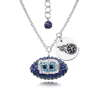 NFL Team Football Necklace - Tennessee Titans