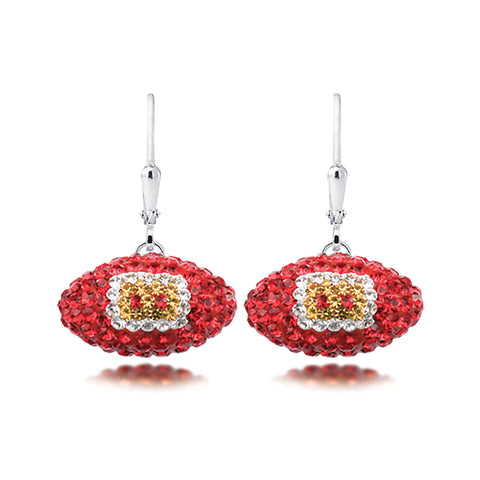 NFL Team Football Earrings - Kansas City Chiefs