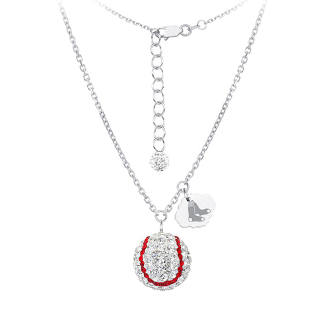 MLB Team Baseball Necklace - Boston Red Sox